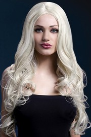 Парик Fever Rhianne blonde, long soft curl with centre parting, блондинка, 66см.