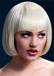 Парик Fever Mia blonde, short bob with fringe, блондинка, 25см