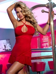 Платье Candy Girl с открытой спиной красное, OS(42-46р.)
