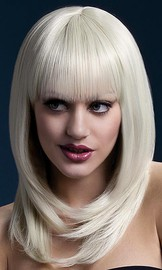 Парик Fever Tanja blonde, feathered cut with fringe, блондинка, 48см.