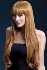 Парик Fever Bella auburn, natural wave with fringe, каштаново-рыжий, 71см.