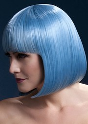 Парик Fever Elise pastel-blue, sleek bob with fringe, пастельно-голубой, 33см.