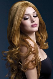 Парик Fever Rhianne auburn, long soft curl with centre parting, каштаново-рыжий, 66см