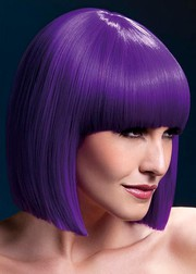 Парик Fever Lola purple, blunt cut bob with fringe, фиолетовый, 30см.