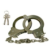 Наручники Chrome Hand Cuffs™ с длинной цепью, серебристые