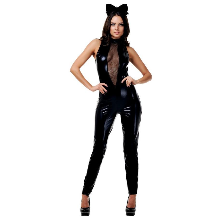Эротичный костюм кошки из латекса 11 фотография