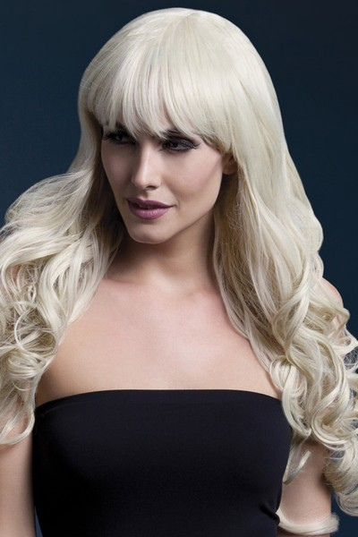 Парик Fever Isabelle blonde, long soft curl with fringe, блондинка, 66см.