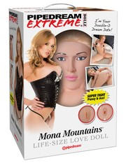 Секс-куколка Pipedream Extreme Dollz Mona Mountains, 2 любовных отверстия